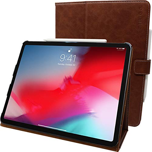 Snugg iPadPro2018- Custodia in Pelle Marrone Distressed Brown iPad PRO 11' (2018)