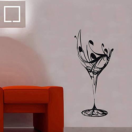 jtxqe Symbol Wandaufkleber-Weinglas Selbstklebende Wandaufkleber Vinyl Wandtattoo Home Decor Für Wohnzimmer Küche 57X125Cm