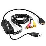 サファイア RCA to HDMI変換コンバーター コンポジットをHDMIに変換アダプタ av to hdmi変換ケーブル 1080P/720P対応 音声転送 HDMIケーブル付 RCAケーブル付 USB給電ケーブル付 PS2/スーパーファミコン/VHS VCRカメラ DVDに対応
