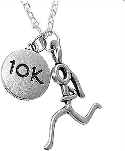 banbeitaotao Collar Marathon Runner Sport 10 kilómetros Medalla Mental Suéter de Corea Collar Largo Overwatch Tamaño