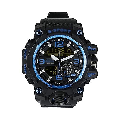 WTYU Reloj De Digitores De Hombres Diarios Deportes Diarios Grande Dial Reloj De Hombres, Antibrame Y Anti-Shock, con Modo Luminous E