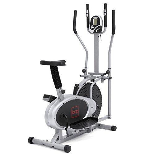 New Gray, Elliptical Bike 2 in 1 Cross Trainer Exercise...