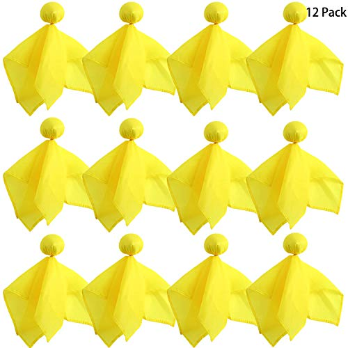 trounistro 12 Pack Football Penalty Flag Sports Fan Tossing Flags for Football Party Games Accessory (Yellow Set)