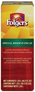 Folgers Special Reserve Decaffeinated Coffee, 1.25 Liter -- 2 per case.