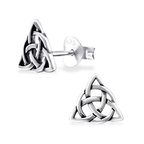 ICYROSE 925 Sterling Silver Celtic Knot Stud Earrings 31607 (Nickel Free)