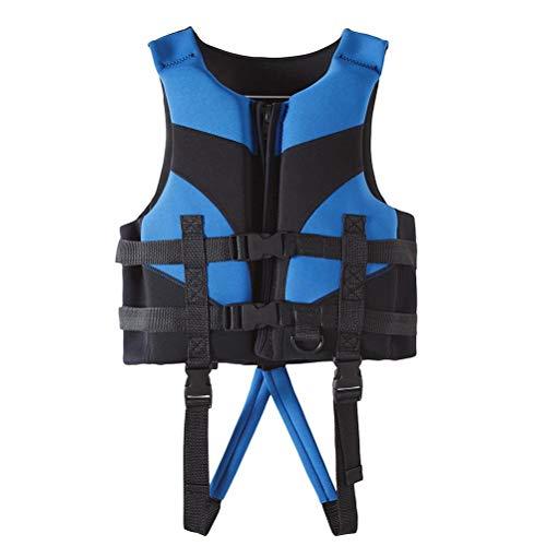 Kuashidai Chaleco salvavidas para niños y niños para deportes acuáticos, dispositivo de flotación, chaleco anticolisión, ayuda a la flotabilidad, chaleco salvavidas de neopreno