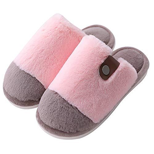 CNNWomen Winter Haarkleurige pantoffels vrouwen pluche schoenen warmte ademende binnenschoenen van het geheugen
