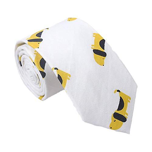 Gespout Cute Cartoon Animal Print Tie Hombres Corbata de Algodón Moda Casual...