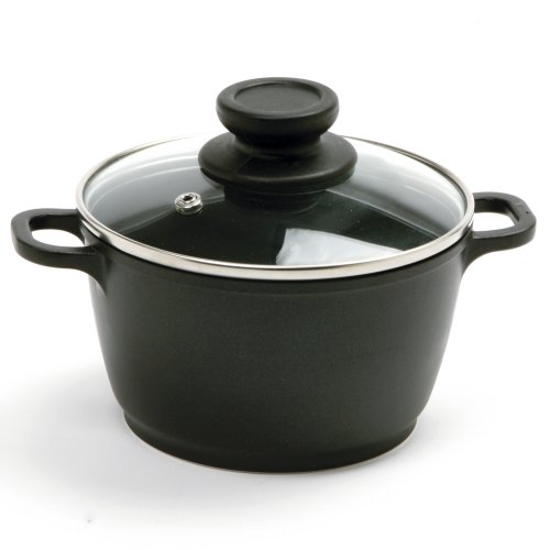 Norpro 1 Quart Nonstick Mini Pot with Vented, Tempered Glass Lid, Shown