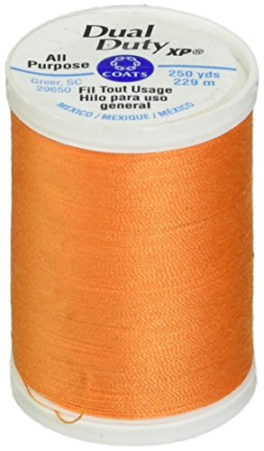 Coats Thread & Zippers S910-7630 Dual Duty XP General Purpose Thread, 250-Yard, Tangerine