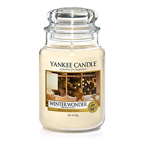 Yankee candle Jar Winter Wonder Candela di Natale 5038581051109, Multicolore, Unica