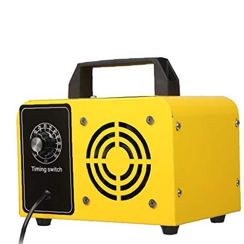 GGOOD Máquina de ozono purificador de Aire de ozono máquina Desodorante de Aire Industrial para 48g Olor Control de la Parada Amarillo, Instrumento Industrial