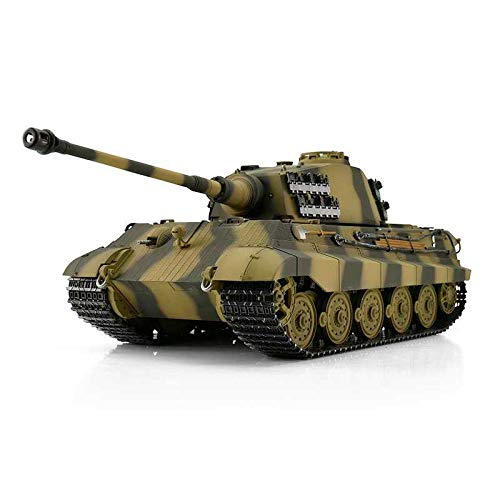 Torro 1:16 RC Panzer Königstiger Tiger 2 RTR 2,4Ghz 6mm BB 360° Turmdrehung & Stahlgetriebe