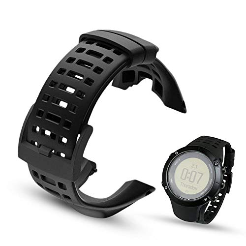 Octane Bands Replacement Strap for Suunto Ambit 3 Peak and Ambit 2 - Premium Waterproof Watch Band 24mm - Screwdriver Included (Black Spyder Edition)