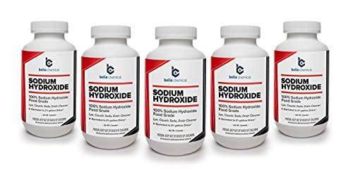 Sodium Hydroxide - Pure - Food Grade (Lye, Caustic Soda) (10 Pounds)
