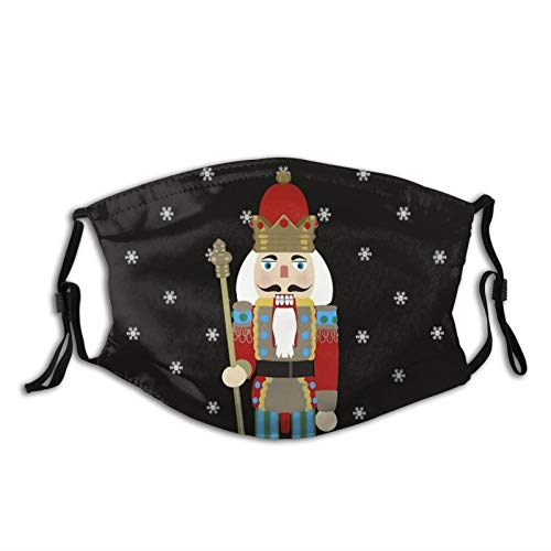 I Want A Nutcracker For Christmas Christmas-Face Mask Balaclava, Washable&Reusable With 2 Filters, For Adult Women Men&Teens