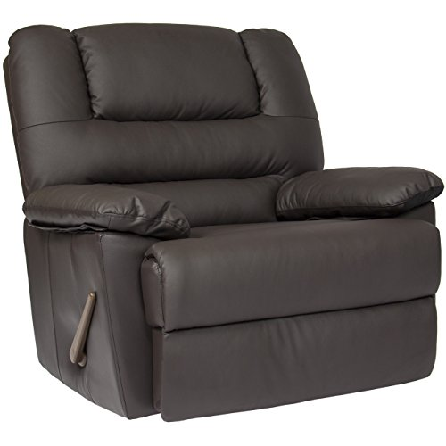 Deluxe Padded PU Leather Rocking Recliner Chair