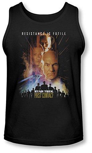 Star Trek - - Premier contact des hommes (film) Tank-Top, Large, Black