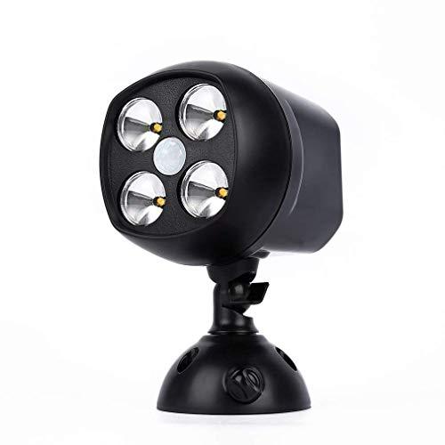 VISTANIA Outdoor-Sensor Light 600 Lumen Outside Weatherproof Security Lights Motion Sensor Lampe Battery Powered,Black