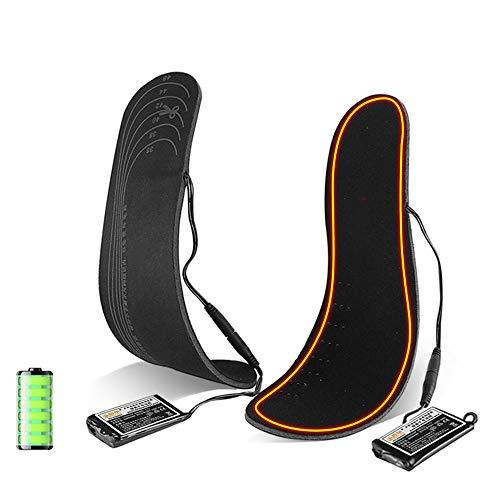 WODT Plantillas térmicas Recargables Plantillas para Calentar los pies para Hombres y Mujeres, Plantillas térmicas con batería para Deportes al Aire Libre