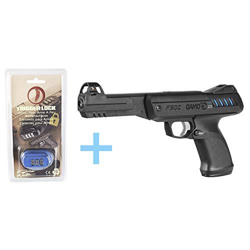Gamo Pack Pistola Aire Comprimido P-900 IGT, Pistola perdigones Potencia de 3,5 Julios, 4,5 mm, Velocidad de Salida 120 m/s, Longitud 32 cm, Pistola de Bolas + Candado de Seguridad Yatek.