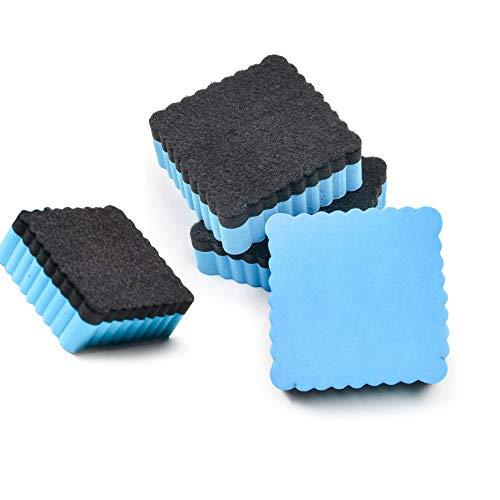 Esponja Para Pizarra Blanca, 4 Unidades, Color Azul Claro, Sin ImáN, Borrador Pequeño Limpieza Seco Pizarras Blancas Rotuladores Y Rotuladores, Pizarras MagnéTicas, OndulacióN Cuadrada, 5x5x2cm
