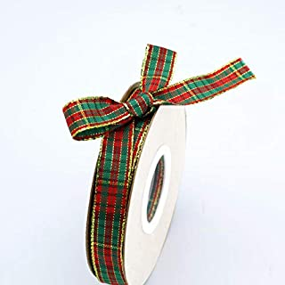 9 feet red and green Christmas Ribbon 38 wide BB112