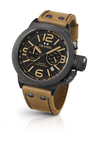 TW Steel Orologio Cronografo Quarzo Unisex con Cinturino in Pelle CS44