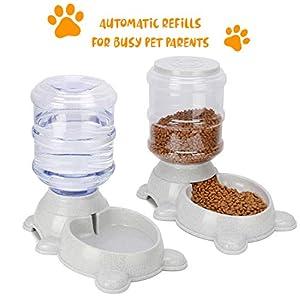 en King Automatique pour Animal Domestique mangeoires, Chien/Chat Nourriture/Distributeur D'eau, Auto Ensemble de mangeoire et d'aliments pour Animaux pour Chien et Chat