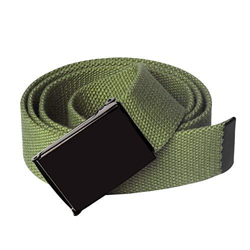 KEYNAT Leinen Gürtel Herren mit Metall Gürtelschnalle Taktischer Gurtel Outdoor Sportarten Unisex Canvas Webbing Belt with Metal Buckle