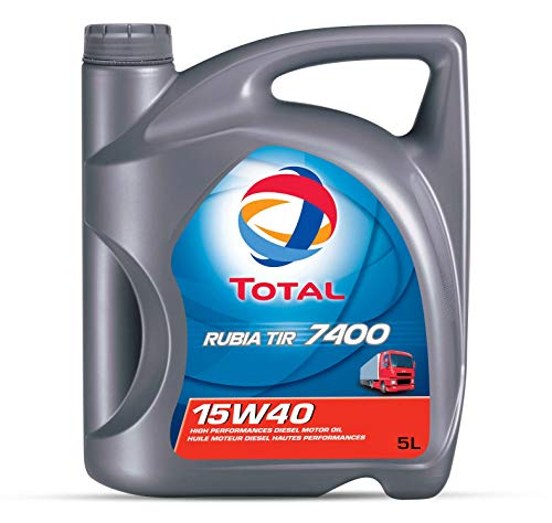 Total 148585 Rubia Tir 7400 - Aceite lubricante para motores (15 W-40, 5 l)