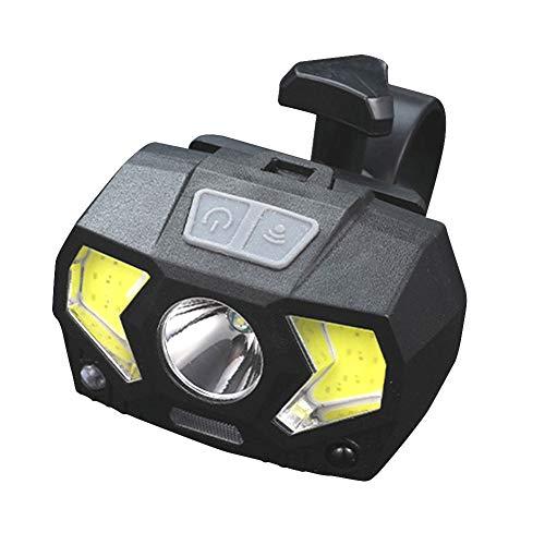 DHYED Faro impermeable de 300 lm, carga USB, iluminación de sensor de camping.