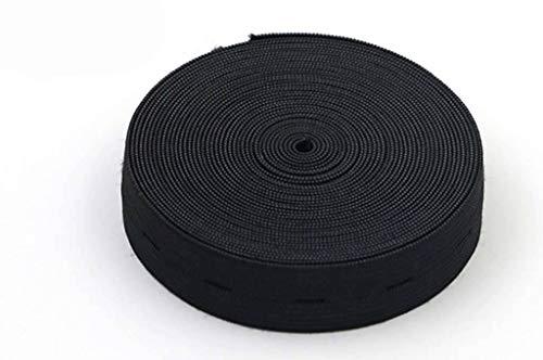 18 mm, elastisch koord, plat koord met dunne dunne elastische kleermakerij, tailleband, hoofdbanden, gebruikt voor haarbanden, korte broeken, rokken, mouwen-zwart-18mm-5Meter
