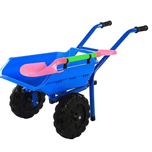 YYLL Kinder-Schubkarre, Baby-Schubkarre-Schubkarre for doppeltes Rädern im Freien Innen-Toys, Blau (Color : Blue)