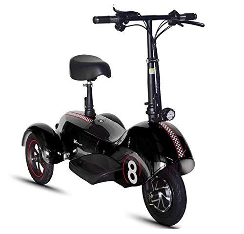 XINTONGSPP Triciclo eléctrico, Sencilla/biplaza/portátil Multifuncional cómodo y Resistente al Desgaste Mini Scooter...