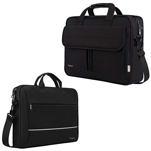 Laptop Bag 15.6 inch, Taygeer Slim Laptop Briefcase for Men Women, Business Portable Carrying Case Computer Shoulder Bag, 17 inch Laptop Bag, Taygeer Water-Repellent Computer Shoulder Messenger Bag