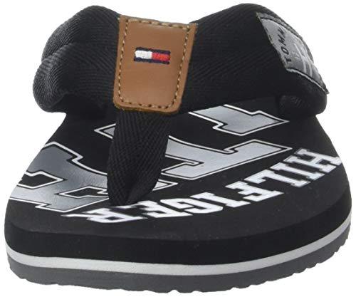 Tommy Hilfiger Essential TH Beach Sandal, Chanclas Hombre, Negro (Black 990), 42 EU