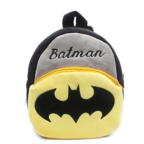XYBB Mochila infantil Juguetes de puntada Mochila de felpa Mochila escolar de jardín de infantes para niños Batman
