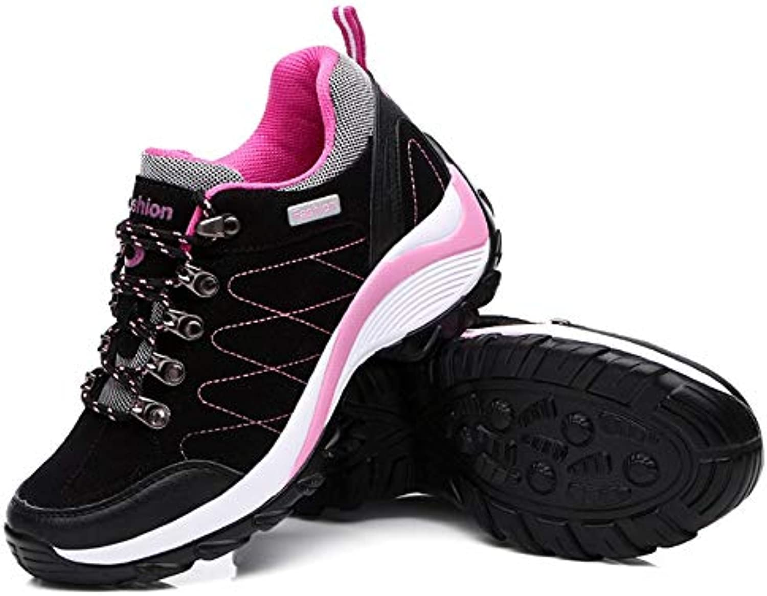 Outdoor Sport shoes Breathable Light Antiskid Wearable Climbing shoes for Women (Black 40)