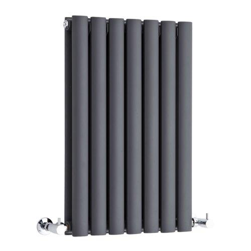 Hudson Reed Radiador Revive Horizontal con Calefacción de Diseño Moderno - Acabado Antracita - Diseño de Columna - 635 x 415mm - 652W - Calefacción de Lujo