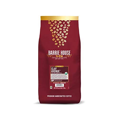 Barrie House Clay Avenue Whole Bean Coffee, 2 lb Bag | Fair Trade Organic Certified | Medium Roast Coffee | Sweet and Mellow Flavor | 100% Arabica Coffee Beans