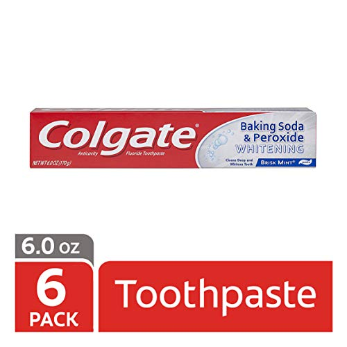 Colgate Baking Soda and Peroxide Whitening Toothpaste,2.5 ounce(pack of 6)