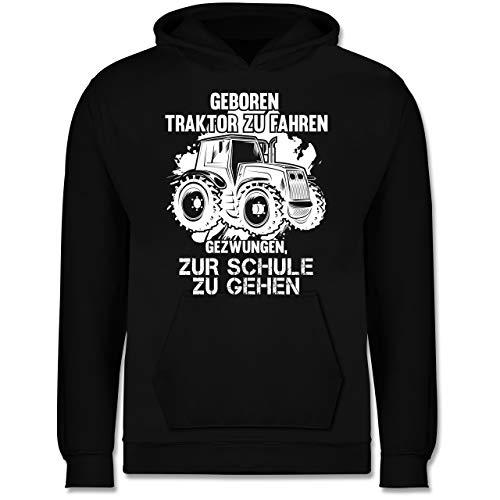 Fahrzeuge Kind - Geboren um Traktor zu Fahren - 98 (1/2 Jahre) - Schwarz - zum trecker Fahren geboren Pullover - JH001K JH001J Just Hoods Kids Hoodie - Kinder Hoodie