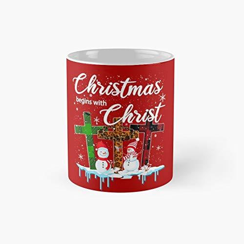 Taza clsica de Navidad con el disfraz de Cristo, el mejor regalo divertido tazas de caf de 325 ml