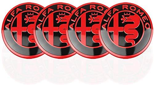 4 Pcs Coche Tapas Centrales Llantas, para Alfa Romeo Giulietta Spider GT Giulia Mito 147 156 56mm Tapas Rueda Centro Tapacubos Coche Insignia Del Polvo Accesorios Estilo