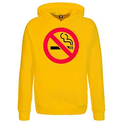 Nichtraucher Kapuzenpullover | Non Smoker | Rauchen | Anti | Nikotin | Zigarette Gelb L