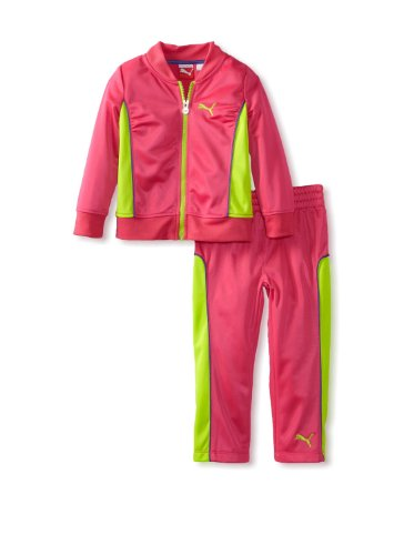 PUMA 2-Piece Tracksuit Little/Girls (24 Months, Magnta Pink)