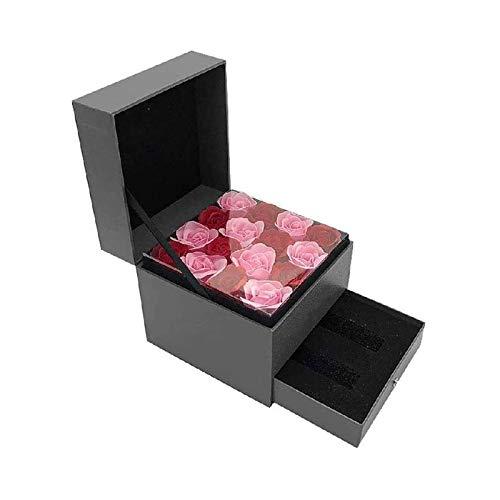 LSLS Caja joyero Slots Classic Jewelry Box with Drayer Modern Cierre Pendiente Organizador Titular Organizador de Joyas