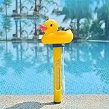 HUONIUPIC Termómetro para Piscina Flotante de fácil Lectura con Cuerda - Accesorios para Piscinas al Aire Libre Resistentes a roturas (Color : Duck)