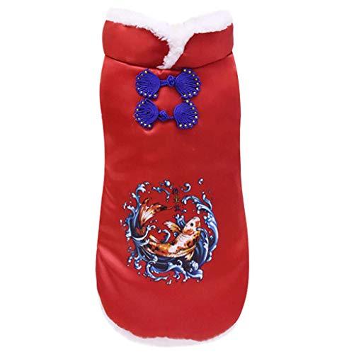 Yowablo Haustierkatzenhund kleidet Pfingstrosenblume (XXL,6- Rot)